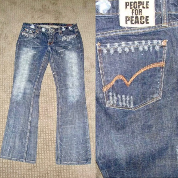 People For Peace Denim - People For Peace Boot Cut Jeans 30